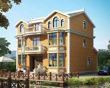 别墅图纸超市at1626三层带阳台大气欧式别墅设计图纸