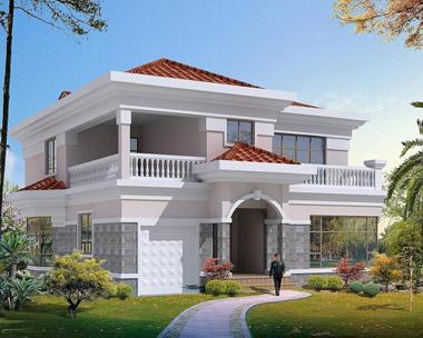 现代二层别墅  醇白c2 中式现代风格两层半自建房别墅图纸 24建筑带图片