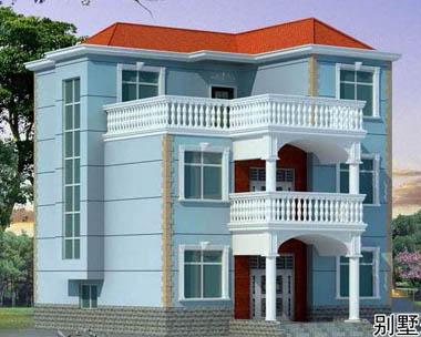 at145三层新农村现代别墅设计图纸~10m×13m